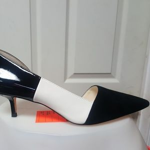 Brand new nine west black/white suede/patent shoes